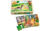 Zobrazit detail - Bino Obrázkové kostky Domácí zvířata 15 ks