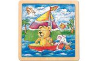 Zobrazit detail - Puzzle na desce - medvěd s myškou -Oli & Lea