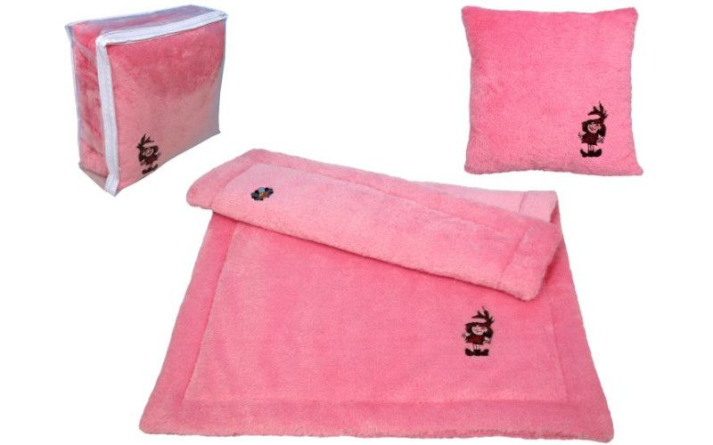 Sada deka + polštář Malá čarodějnice - růžová