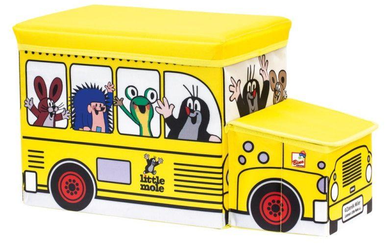 Krteček Krabice na hračky autobus