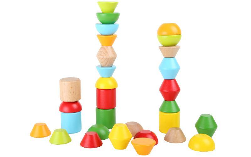 """Stavební """"cihly"""" barevné, sada 30 dílů"""