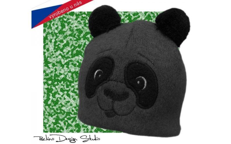Dětská čepice ROCKINO Medvídek šedá Velikost 52