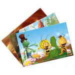 4 puzzle v krabičce - Včelka Mája. 4 díly
