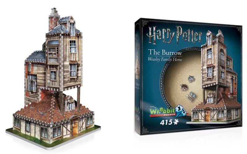 3D puzzle Harry Potter Doupě - rodinný dům Weasleyových 415 dílků