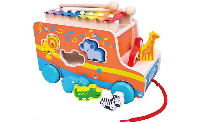 Bino Auto vkádačka s xylofonem