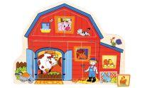 Baby puzzle farma 13 dílků vkládačka domeček