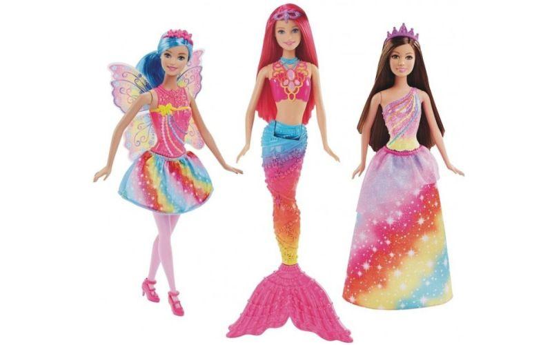 Mattel Barbie Dreamtopia Duhová Princezna, Víla a Mořská panna