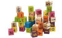 Barevné kostky s písmeny a čísly , 40ks