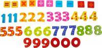 Barevné magnetické číslice 40ks