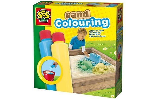 Barvy na písek modrá, žlutá