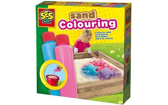 Barvy na písek růžová, modrá