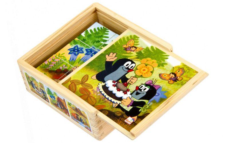 Dřevěné kostky Krtečková 9ks