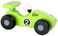 Dřevěné závodní autíčko zelené