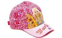 Letní kšiltovka Barbie s květinami růžová