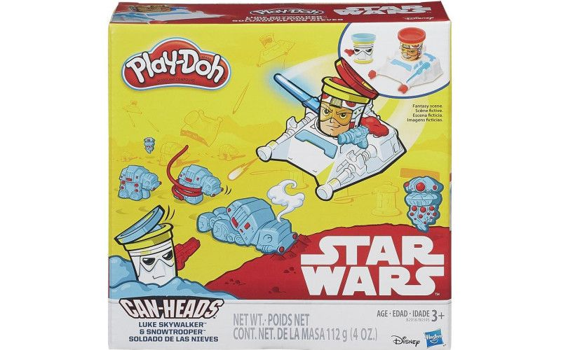 Hasbro Play Doh Star Wars dvojbalení kelímků Luke Skywalker a Snowtrooper