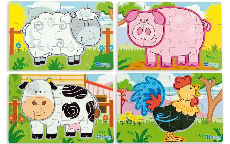 Puzzle Farma - sada 4ks
