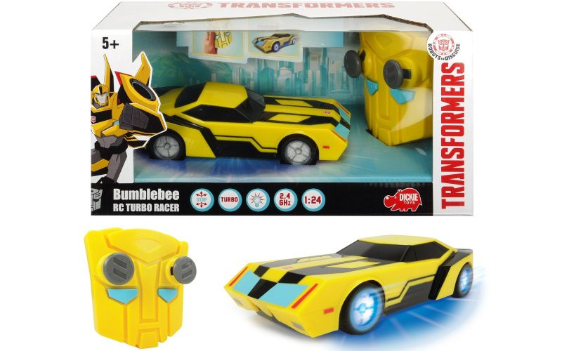 RC Transformers Turbo Racer Bumblebee 1:24, 18cm, 2kan