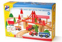 Vláčkodráha s mostem a nádražím, 90dílů