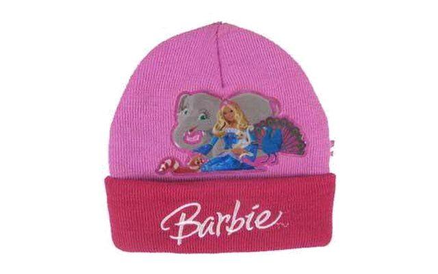 Zimní čepice Barbie a zvířátka