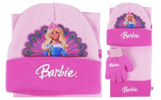 Zimní souprava Barbie růžová