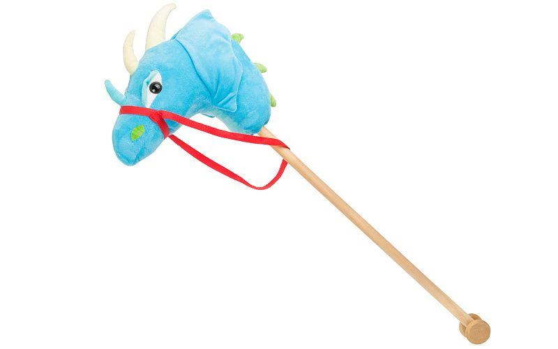 Drak na tyči modrý