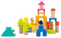 Dřevěné stavební kostky se slonem 50ks