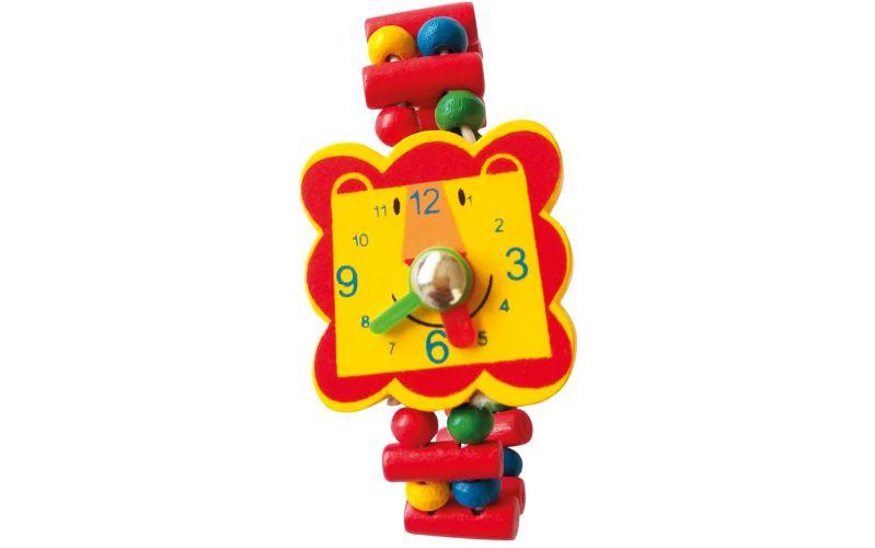 Dřevěné hodinky Lev