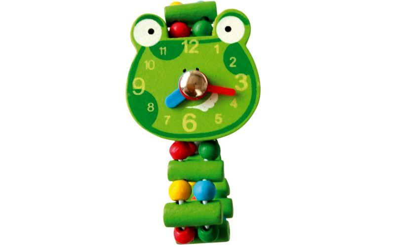 Dřevěné hodinky Žába