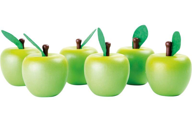 Dřevěné jablíčko zelené