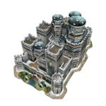 Game of Thrones - 3D Puzzle Winterfell 910 dílků