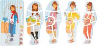 Vrstvené puzzle Těhotenství