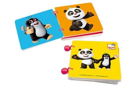 Baby knížka Krteček Krtek a Panda barevná pro miminko