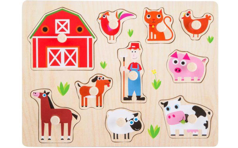 Dřevěná vkládačka Farma