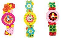 Dřevěné hodinky Princess - set 3ks