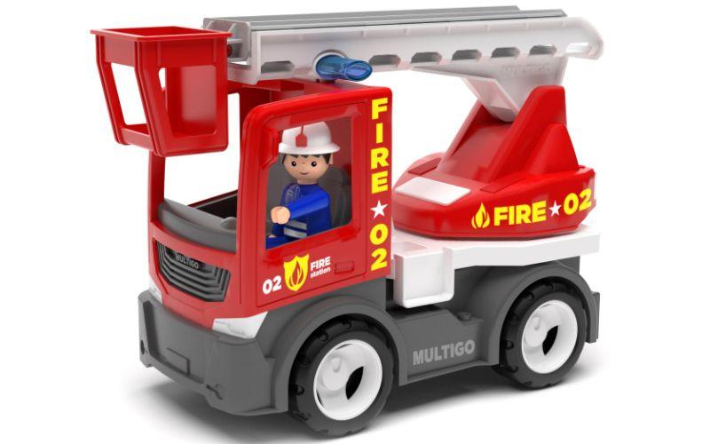 IGRÁČEK MULTIGO FIRE Hasičský žebřík s řidičem