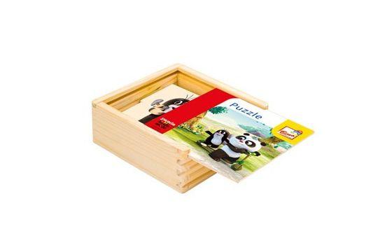 Krteček Krtek a Panda v krabičce natur 16 dílků