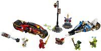 LEGO Ninjago 70667 Kaiova motorka s čepelemi a Zanův sněžný skútr