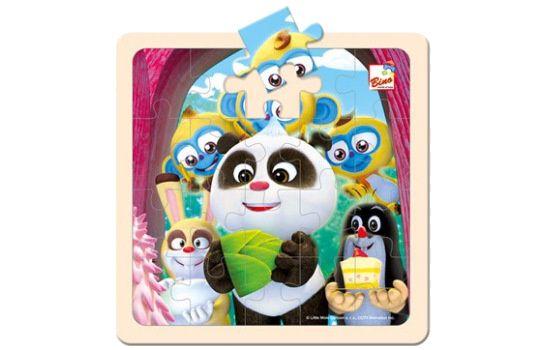 Puzzle Krtek a Panda oslava 20 dílků