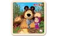 Puzzle Máša a medvěd s myškou 4 dílky