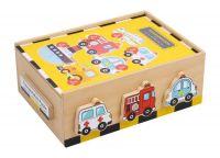 Puzzle v krabici Vozidla