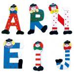 Písmeno R s klaunem
