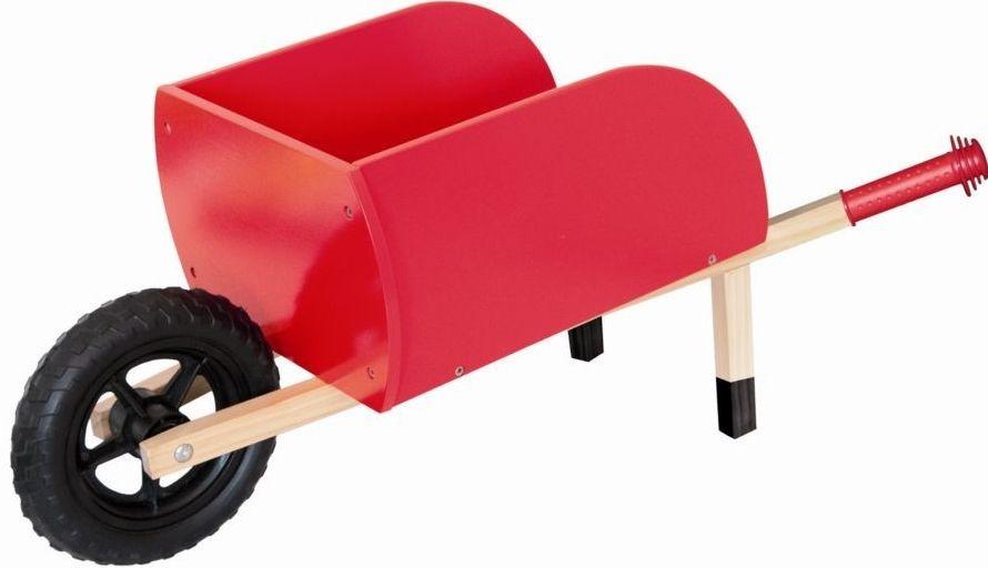 Zahradní kolečko dřevěné, červené