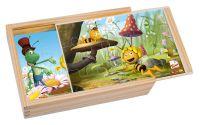 4 puzzle v krabičce - Včelka Mája, 4 díly