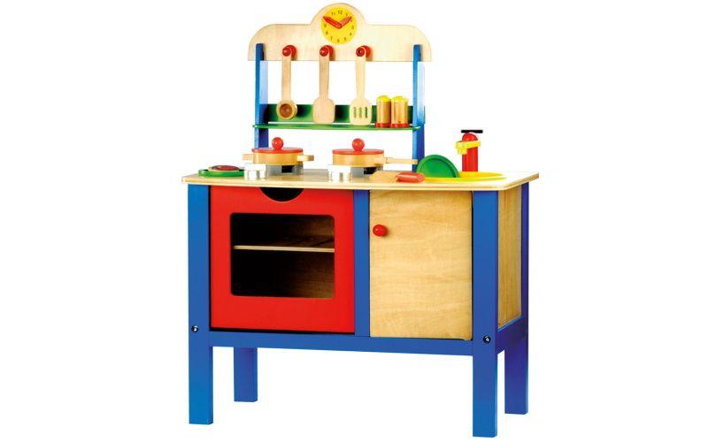 Bino Dětská kuchyňka s příslušenstvím 17 dílů