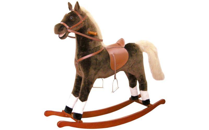 Bino Houpací kůň plyšový, maxi, hnědý