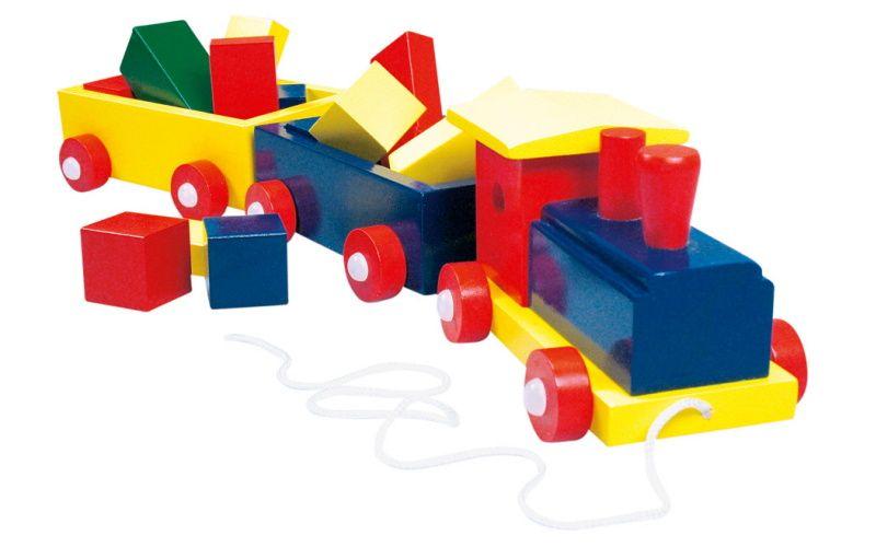 Vlak velký Bino barevný - 2 vagony