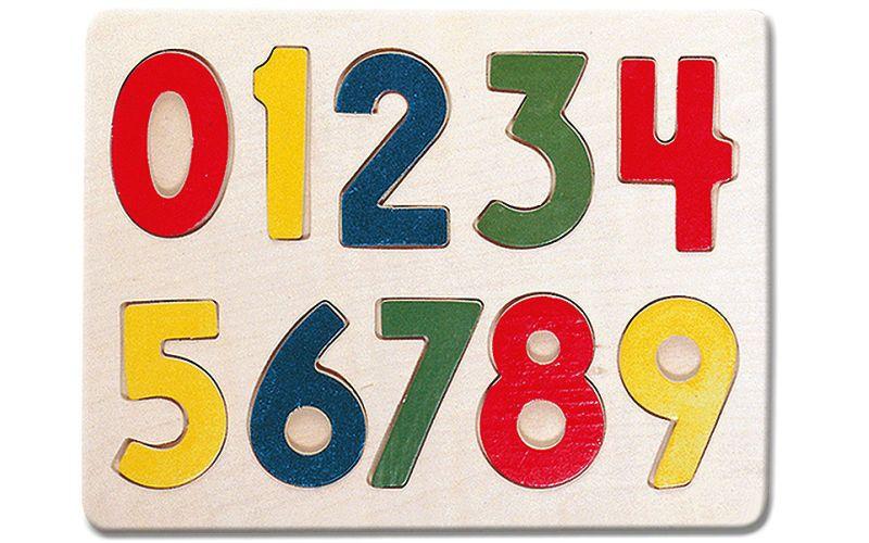 Bino dřevěné puzzle číslice