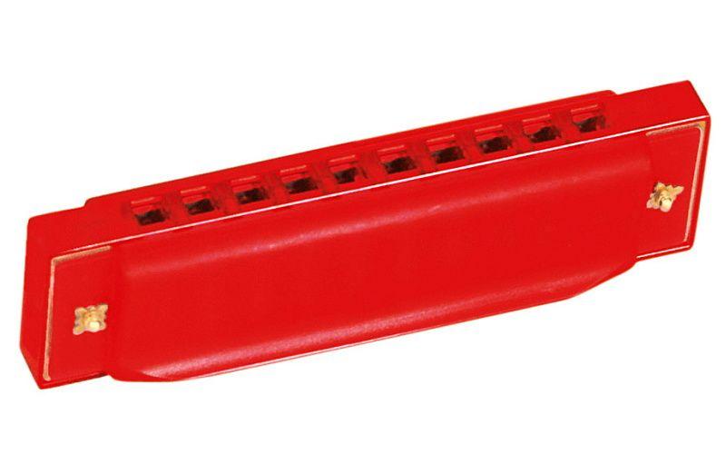 Bino Harmonika foukací červená
