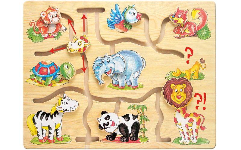 Bino Motorický labyrint - Najdi hlavu zvířátka