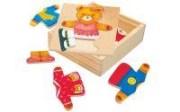 Bino - Puzzle - šatní skříň - medvědice